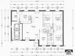 plan maison simple 3 chambres plan maison plain pied 3 chambres 1 bureau cool plan maison plain
