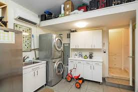 Ikea Laundry Room Wall Cabinets Contemporary Laundry Room With Built In Bookshelf Undermount