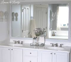 lemons to lovelys master bathroom makeover cabinet diy mirror