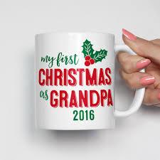 my first christmas as grandpa mug grandpa gifts stocking