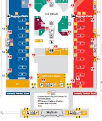 atlanta airport floor plan marta