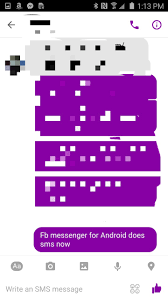 violet purple facebook tests sms integration in messenger launches support for