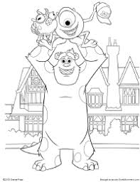 sulley coloring page free printable monsters university activities earlymoments com
