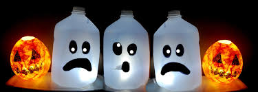 scary halloween decorations on sale kids halloween craft cute ghost milk jug easy halloween