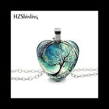 art glass necklace images Necklace divergent tree pendant jewelry women heart necklace art jpg