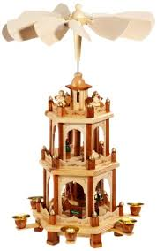 pyramid 18 inches nativity play 3 tier carousel with 6