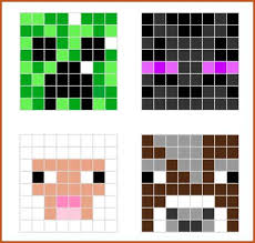 minecraft pixel art template a great place to find pixel art