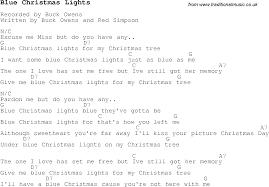 christmas carol song lyrics with chords for blue christmas lights