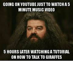 Music Video Meme - going on youtube just to watcha5 minute music video 5 hours later