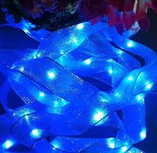 ribbon lights buy new blue color 16 4feet silk satin 50 led ribbon lights string