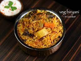 biryani cuisine veg biryani in cooker how to vegetable biryani recipe in cooker