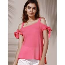 blouse for light pink xl spaghetti color cut out blouse for