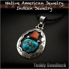 silver turquoise pendant necklace images Wild hearts rakuten global market teddy goodluck native jpg