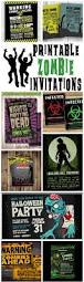printable zombie invitations for a teen zombie party omg gift