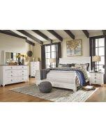 signature design by ashley willowton casual king sleigh bed