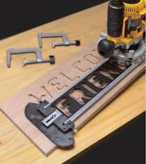 templates for routers custom engraved wooden sign making router jig kit w letter number
