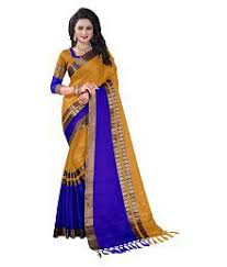 Buy Navy Blue Cotton Zari Cotton Sarees Buy Cotton Sarees Online In India At Low Prices
