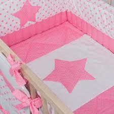 Crib Bedding Sets Girls by Crib Bedding Baby Bed Sets Pink Stars Handmade Cotton