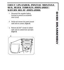 2006 chevrolet uplander car audio wiring diagram 28 images car