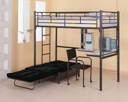 Futon Armchair Coaster 2209 Black Twin Workstation Loft Bunk Bed With Futon Chair