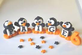 Edible Christmas Cake Decorations Ireland by Penguin Cake Decorations Ebay