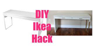 ikea curtain hacks ikea hacks micke vanity desk u0026 irja curtain rods youtube