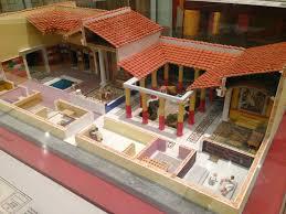 Ancient Roman Villa Floor Plan by Model Of A Roman House House Best Art