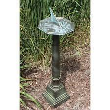 Aluminum Pedestal Sundials From Bellacor