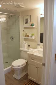Bathroom Ideas For Basement Small Bathroom With Nice Finishes Diy Shelves Are A Nice Touch