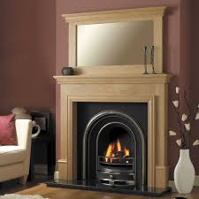 modern wooden fire surrounds round designs