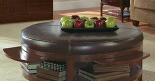 round leather coffee table round leather ottoman coffee table augustineventures com