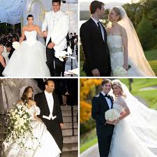 vera wang wedding dresses worn by celebrities brides