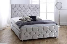Velvet Sleigh Bed Crushed Velvet Florida Bed Buy Crushed Velvet Bed Product On