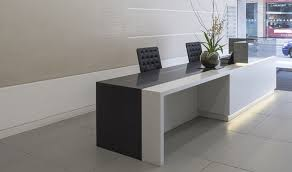 Black Reception Desk Bespoke Reception Desk Design Fusion Executive Furniture