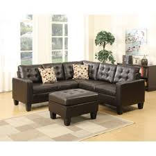 large sectional sofa with ottoman faux leather sectional sofas you u0027ll love wayfair