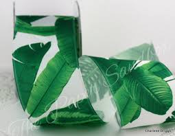 leaf ribbon palm leaves ribbon palm leaf ribbon wired leaf ribbon tropical