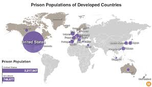 Population Map Prisoners In The Free World America U0027s Astronomical Incarceration