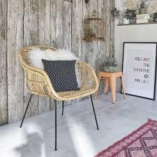 chaise en chaise en rotin et métal bois dessus bois dessous