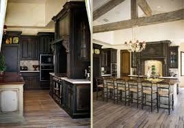 Dark Kitchen Floors by Alder Kitchen Cabinets On Dark Floor Best Attractive Home Design