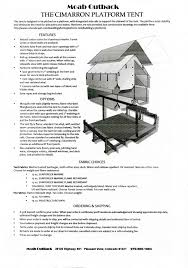 wall tents for sale cimarron platform tents