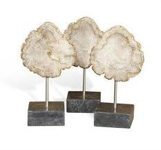 small wooden sculptures small petrified wood trio sculpture