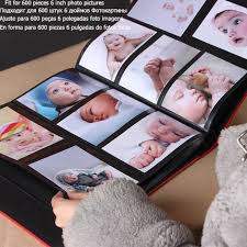 high capacity photo albums frameless 600pcs leather photo album book quality baby family
