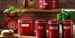 typhoon vintage kitchen red red kitchen storage canisters