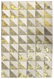 Leather Area Rug Triangles Modern Leather Rug Triangles Goldmilk