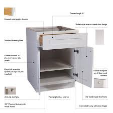 kitchen sink base cabinet at lowes design house 48 in w x 34 5 in h x 24 in d white maple door