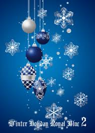 theme line winter winter holiday royal blue 2 line theme line store