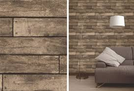fine decor brown wooden plank realistic wood design 3d effect