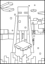 printable minecraft enderman coloring pages elijah