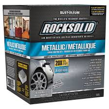 Silver Floor L Rocksolid Metallic Floor Coating Kit Silver Bullet 2 07l Rona