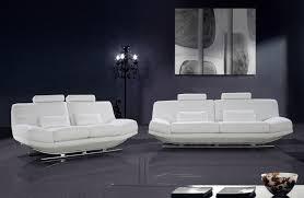 White Sofa Sets Leather Viper Modern White Bonded Leather Sofa Set